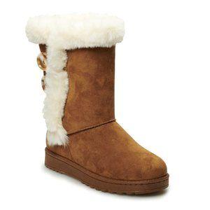 SO Abigail Faux Fur Winter Boots Chestnut 8.5